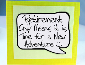 Retirement Card and Magnet Quote. Yellow Magnet Card for Retirement ...