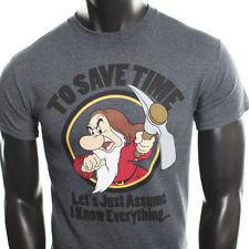 New Mens Disney Snow White Grumpy Seven Dwarfs Humor mickey mouse ...