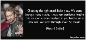 Choosing the right mask helps you... We went through many masks. It ...