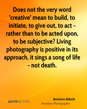 Berenice Abbott Death Quotes