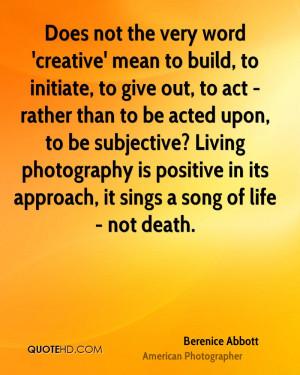 Berenice Abbott Death Quotes