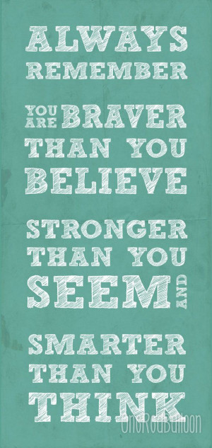 Always Remember Winnie the Pooh Quote 9X19 Typography Home Decor ...
