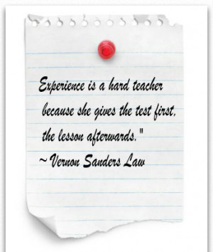 Famous saying on Experience