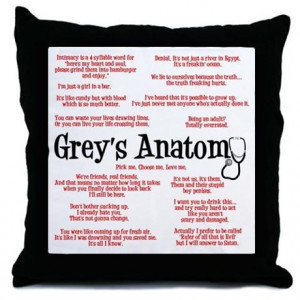 Anatomy Gifts > Anatomy More Fun Stuff > Grey's Anatomy Quotes Throw ...