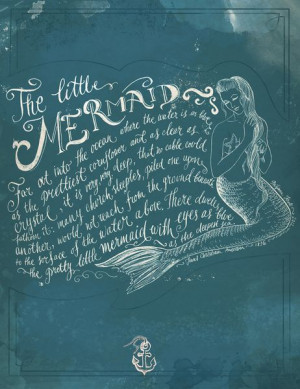 The Little Mermaid Art Print - Biljana Kroll