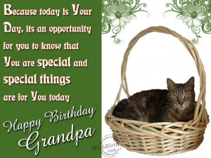 Happy Birthday To A Special Grandpa