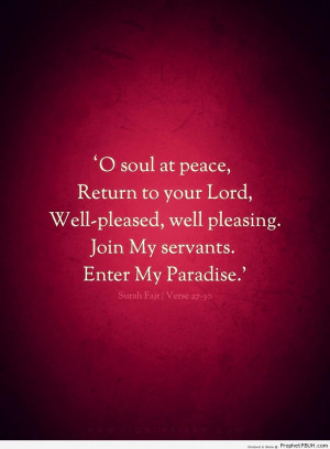 Soul at Peace - Islamic Quotes ← Prev Next →