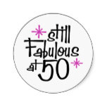 50th Birthday Gifts, The Scream 50! Round Sticker