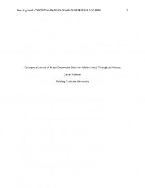 Historical Understandings Of Depression