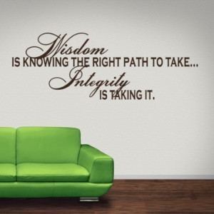 ... Is Knowing The Right Path To Take Wall Sticker Life Quote Wall Art