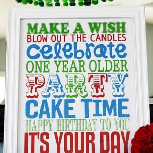 Printable Birthday Poster {Birthday Sayings}