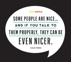 Some people are nice... More