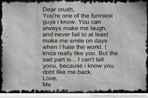 Dear Crush Quotes For Him Dear crush quotes tumblr dear