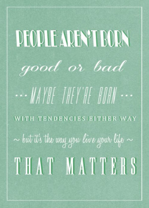 One of my favorite quotes from TMI!