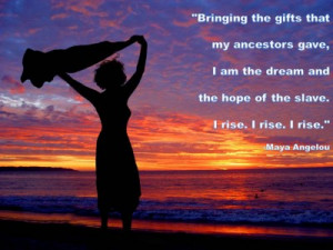 Post image for QUOTE & POSTER: Bringing the gifts that my ancestors ...