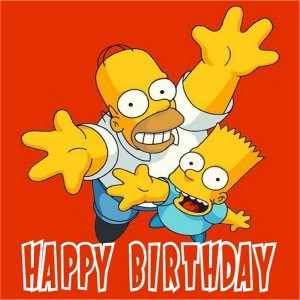 Simpsons Birthday Pics
