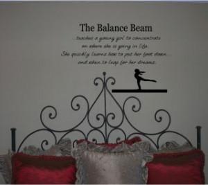 Gymnastics Beam Quotes...