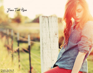 Quote Design Maker - Redhead Girl Fence Quotes