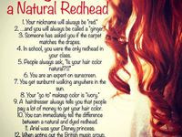 Being Ginger. Flaming hair Hm..i love bein a redhead being a ginger I ...