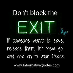 You can't control another person. You have to find your own peace.