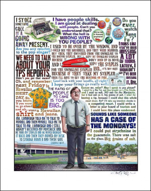 Case of the Mondays Office Space tribute signed print by ChetArt, $25 ...
