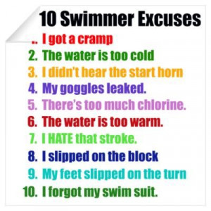 ... Swimming, Swimming Excuses, Swimming 3, Decals Swimming, Art Wall