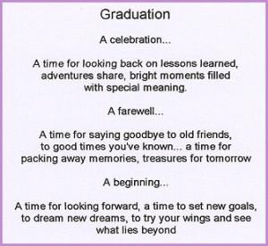 high school graduation poem