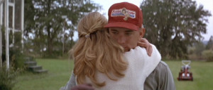 ... Forrest Gump) and Robin Wright (Jenny Curran) in Forrest Gump (1994