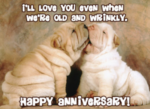 ... other a happy anniversary with this super cute and sweet puppy eCard