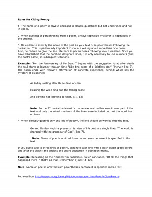 MLA Rules for Citing Poetry - Intranet Brenau University