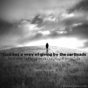 Charles Spurgeon Quote – Giving