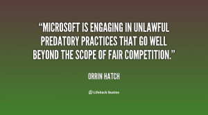 Microsoft is engaging in unlawful predatory practices that go well ...