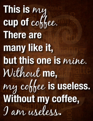 Coffee helps me overcome fatigue. I feel relax and tension-less after ...