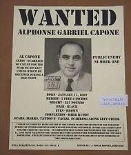 Al Capone Wated Poster Alphonse Gabriel Capone Scare Face F.B.I.