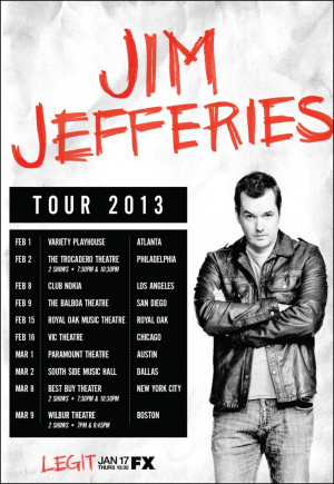 Jim Jefferies - This guy is funny! Not suitable for children.