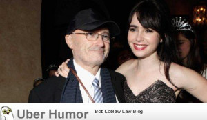 Lily Collins, 24, is the actress daughter of Genesis' Phil Collins