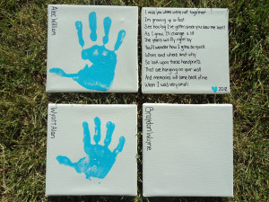 Mother's Day Handprints Canvas
