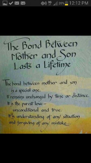The bond between a mother and son
