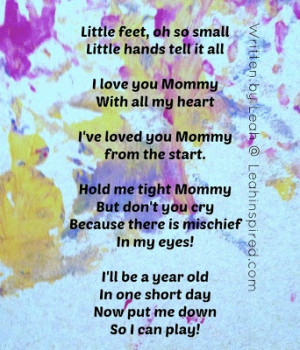 Leah Inspired: Handprint and Footprint Card from Child Card poem for ...