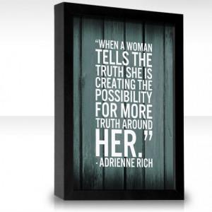 Adrienne Rich print