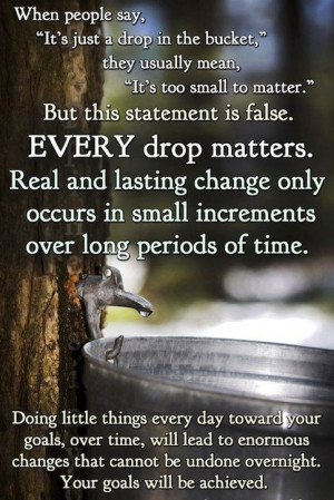 Every small things matters in our Goals