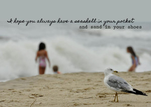 Sharing The Beach Quote Photograph
