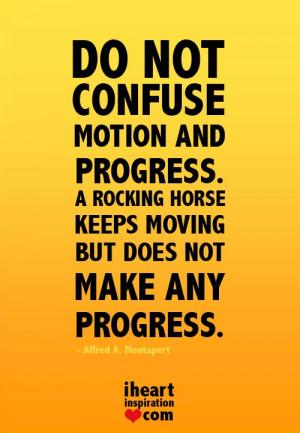 ... progress, A rocking horse keeps moving but does not make any progress