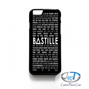 Group Band case Bastille Lyrics Quotes For iPhone 4 5/5s/ 5c 6 Cases ...