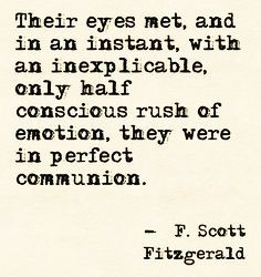 Scott Fitzgerald quote.