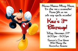 Mickey Mouse Birthday Invitations - Digital File Only - Several styles ...