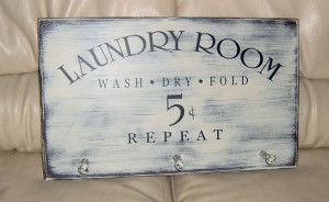 Laundry Room, Vinyl lettering wall words decals quotes.
