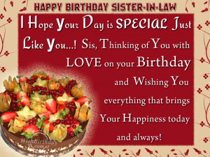 Wishing You Happy Birthday Sister-in-law