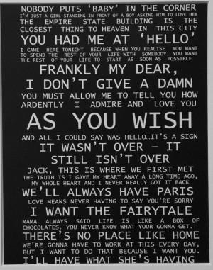 Romantic movie quotes :)