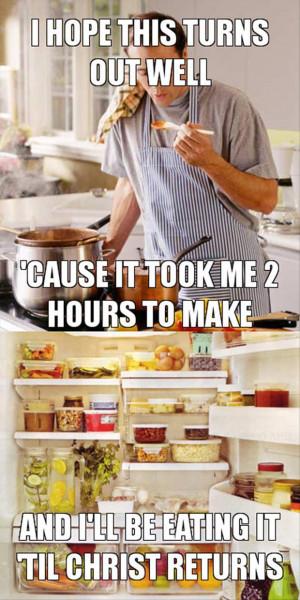 making dinner funny